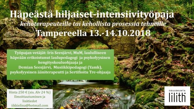 Häpeästä hiljaiset intensiivi Tampere 2018
